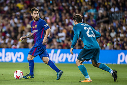 August 13, 2017 - Barcelona, Catalonia, Spain - FC Barcelona forward MESSI competes with Real Madrid midfielder KOVACIC for the ball during the Spanish Super Cup Final 1st leg between FC Barcelona and Real Madrid at the Camp Nou stadium in Barcelona (Credit Image: © Matthias Oesterle via ZUMA Wire)