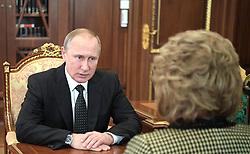 June 26, 2017 - Moscow, Russia - June 26, 2017. - Russia, Moscow. - Russian President Vladimir Putin meeting with Federation Council Speaker Valentina Matvienko. (Credit Image: © Russian Look via ZUMA Wire)