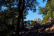 La Mola, a mountain in the park of Sant Llorenç del Munt i l'Obac - La Mola, Mountain, Barcelona, Catalonia, Spain
