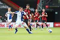 Football - 2020 / 2021 EFL Championship - AFC Bournemouth vs. Blackburn Rovers<br /> <br /> Darragh Lenihan of Blackburn Rovers tries to stop Bournemouth's Dominic Solanke from setting up another Cherries attack during the Championship match at the Vitality Stadium (Dean Court) Bournemouth <br /> <br /> COLORSPORT/SHAUN BOGGUST