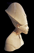 Akhenaten. Painted limestone. Akhenaten meaning 'living spirit of Aten') known before the fifth year of his reign as Amenhotep IV Pharaoh of the Eighteenth dynasty of Egypt who ruled for 17 years and died perhaps in 1336 BC or 1334 BC. He is especially noted for abandoning traditional Egyptian polytheism and introducing worship centered on the Aten,