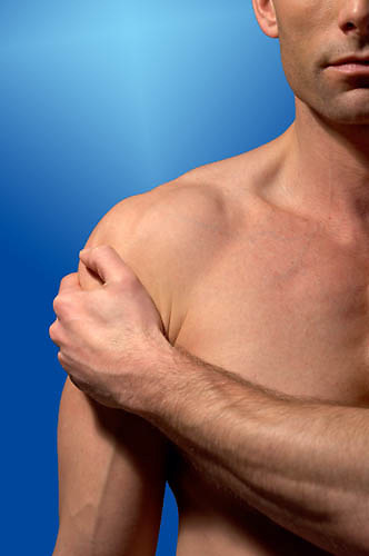 mans chest, muscle pain, sports injury,<br />