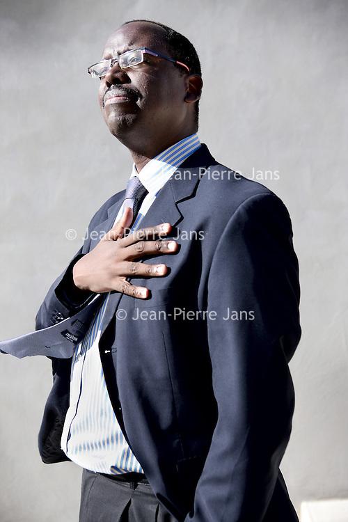 Nederland, Leiden , 15 april 2014.<br /> De Tanzaniaanse econoom Aidan Eyakuze<br /> Foto:Jean-Pierre Jans