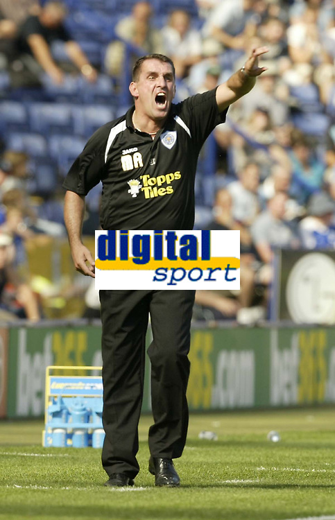 Photo: Aidan Ellis.<br /> Leicester City v Watford. Coca Cola Championship. 25/08/2007.<br /> Leicester's Martin Allen screams at his players as his side hold on to a first half lead