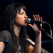 KT Tunstall performs at the International Busking Day is returning to Wembley Park on 20 July 2019, London, UK.