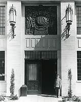1930s Front door of Fox Movietone Studios in West Los Angeles