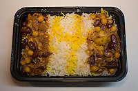 Abeh Goosht, Persian Lamb Stwe at Taste of Persia, a small and unique food stall inside another restaurant called Pizza Paradise in New York.<br /> <br /> (Photo by Robert Caplin)