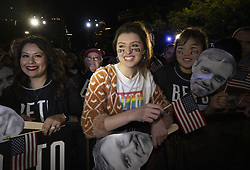 March 30, 2019 - Austin, Texas, USA - Former congressman Beto O'Rourke of El Paso, TX kicks off his presidential campaign at a late night rally in front of the Texas Capitol.  O'Rourke is in the top tier of a crowded field of Democratic candidates to challenge President Donald Trump. (Credit Image: © Bob Daemmrich/ZUMA Wire)