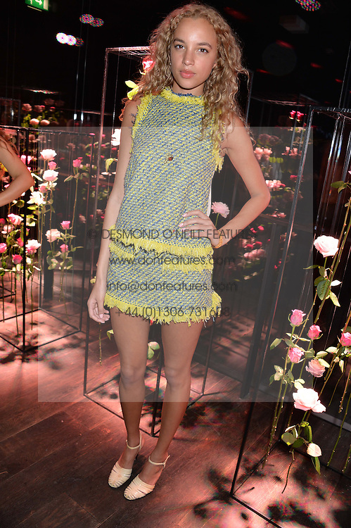 PHOEBE COLLINGS JAMES at the Lancôme pre BAFTA party held at The London Edition, 10 Berners Street, London on 14th February 2014.