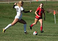 St Paul's School girls varsity soccer with Tilton School.   ©2020 Karen Bobotas Photographer