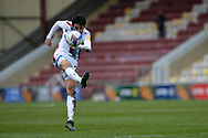 Scunthorpe United Jem Karacan (23) shoots at goal during the EFL Sky Bet League 2 match between Bradford City and Scunthorpe United at the Utilita Energy Stadium, Bradford, England on 1 May 2021.