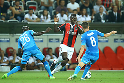 August 22, 2017 - Nice, France - Mario Balotelli of Nice in action  during the UEFA Champions League Qualifying Play-Offs round, second leg match, between OGC Nice and SSC Napoli at Allianz Riviera Stadium on August 22, 2017 in Nice, France. (Credit Image: © Matteo Ciambelli/NurPhoto via ZUMA Press)