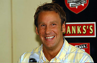 MERSON....PIC TIM EASTHOPE..9..... Pictured is soccer star Paul Merson signing for Walsall from Portsmouth