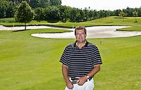 VIJFHUIZEN - professional , headprofessional Wouter Voskamp op zijn favoriete hole, Lynden 2., Haarlemmermeersche Golf Club. COPYRIGHT KOEN SUYK