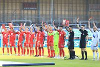 Fotball , 17. juni 2020 , Eliteserien,<br />Haugesund - Brann Bergen<br />Gi Rasisme Rødt Kort.<br />Foto: Andrew Halseid Budd , Digitalsport