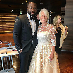 """50 Cent releases a photo on Instagram with the following caption: """"Me and the queen, Helen mirren chilling. Taking over Monaco for tonight."""". Photo Credit: Instagram *** No USA Distribution *** For Editorial Use Only *** Not to be Published in Books or Photo Books ***  Please note: Fees charged by the agency are for the agency's services only, and do not, nor are they intended to, convey to the user any ownership of Copyright or License in the material. The agency does not claim any ownership including but not limited to Copyright or License in the attached material. By publishing this material you expressly agree to indemnify and to hold the agency and its directors, shareholders and employees harmless from any loss, claims, damages, demands, expenses (including legal fees), or any causes of action or allegation against the agency arising out of or connected in any way with publication of the material."""