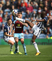 Allan-Romeo Nyom of West Bromwich Albion (R) and Jeff Hendrick of Burnley in action - Mandatory by-line: Jack Phillips/JMP - 19/08/2017 - FOOTBALL - Turf Moor - Burnley, England - Burnley v West Bromwich Albion - Premier League