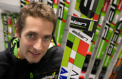 Austrian Ski Jumper Wolfgang Loitzl at press conference when he signs a contract for new season 2010/2011 with ELAN on October 26, 2010 in Elan factory, Begunje, Slovenia. (Photo by Vid Ponikvar / Sportida)