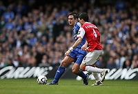 Photo: Rich Eaton.<br /> <br /> Chelsea v Arsenal. Carling Cup Final. 25/02/2007. Frank Lampard left of Chelsea tries to get past Fabregas of Arsenal