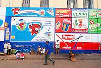 Madagascar. Antananarivo (Tananarive). La ville basse. Publicite murale. // Madagascar. Antananarivo (Tananarive). Low city. Wall painting advertising.