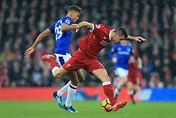 10th December 2017 - Premier League - Liverpool v Everton - Dominic Calvert-Lewin of Everton battles with Dejan Lovren of Liverpool - Photo: Simon Stacpoole / Offside.