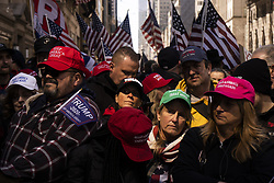 March 23, 2019 - Manhattan, New York, United States - Trump supporters gathered outside of Trump Tower on 5th Avenue in Manhattan for Rally For Trump on Saturday March 23, 2019 in Manhattan, New York..3/23/2019.Manhattan, New York..Go Nakamura/Zuma Press (Credit Image: © Go Nakamura/ZUMA Wire)
