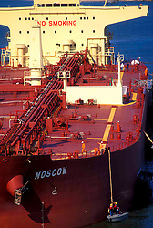Aerial of Tanker at Port of Houston