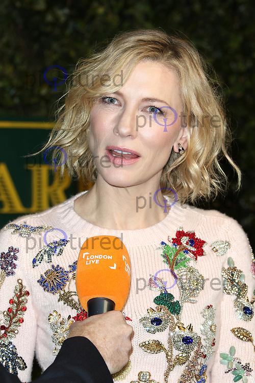 Cate Blanchett, London Evening Standard Theatre Awards, Theatre Royal Drury Lane, London UK, 03 December 2017, Photo by Richard Goldschmidt