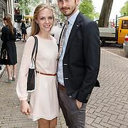NLD/Amsterdam/20150620 - Huwelijk Kimberly Klaver en Bas Schothorst, Raynor Arkenbout en partner Sietske van der Bijl