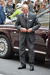 July 19, 2017 - London, London, UK - London, UK. HRH QUEEN ELIZABETH II and the DUKE OF EDINBURGH arrives at Canada House to celebrate Canada's 150th anniversary of Confederation. (Credit Image: © Ray Tang/London News Pictures via ZUMA Wire)