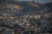 Cityscape, buildings in mountain area, Valparaiso, Chile