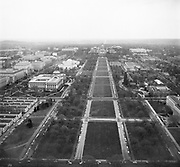 9969-D17. Mall, looking east from the Washington Monument,  Washington, DC, March 24-April 1, 1957