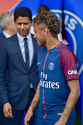 August 4, 2017 - Paris, France - Conférence de presse de Neymar pour son arrivée au PSG. Paris, France, 04.08.2017. # CONFERENCE DE PRESSE DE NEYMAR POUR SON ARRIVEE AU PSG (Credit Image: © Visual via ZUMA Press)