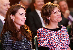 The Duchess of Cambridge and Kate Silverton attend the Royal Foundation's Mental Health in Education conference, which will see experts discuss what more can be done to tackle mental health issues in schools, at Mercer's Hall in London.