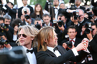 Brad Pitt photographing the press photographers at the Killing Them Softly gala screening at the 65th Cannes Film Festival France. Tuesday 22nd May 2012 in Cannes Film Festival, France.