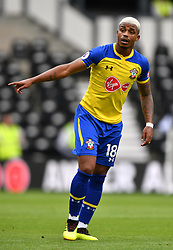 "Southampton's Mario Lemina during a pre season friendly match at Pride Park, Derby. PRESS ASSOCIATION Photo. Picture date: Saturday July 21, 2018. Photo credit should read: Anthony Devlin/PA Wire. EDITORIAL USE ONLY No use with unauthorised audio, video, data, fixture lists, club/league logos or ""live"" services. Online in-match use limited to 75 images, no video emulation. No use in betting, games or single club/league/player publications."