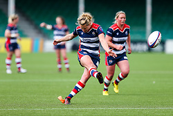 Amber Reed (capt) of Bristol Ladies kicks a Penalty - Rogan Thomson/JMP - 23/04/2017 - RUGBY UNION - Sixways Stadium - Worcester, England - Bristol Ladies Rugby v Aylesford Bulls - Women's Premiership Final.