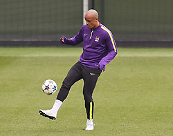 Manchester City's Vincent Kompany is pictured during the training session at the Etihad Campus ahead of the UEFA Champions League second leg match against FC Barcelona - Photo mandatory by-line: Matt McNulty/JMP - Mobile: 07966 386802 - 17/03/2015 - SPORT - Football - Manchester - Etihad Campus - Barcelona v Manchester City - UEFA Champions League