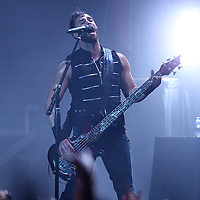 ST. PAUL, MN - MARCH 26: Skillet lead singer and bassist John Cooper performs during the 2011 Avalanche Tour at the Roy Wilkins Auditorium on Saturday, March 26, 2011 in St. Paul, Minnesota.  (Photo by Adam Bettcher/Getty Images) *** Local Caption *** John Cooper