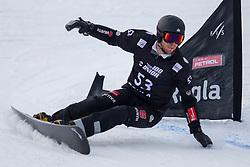 Christian Hupfauer (GER) during Final Run at Parallel Giant Slalom at FIS Snowboard World Cup Rogla 2019, on January 19, 2019 at Course Jasa, Rogla, Slovenia. Photo byJurij Vodusek / Sportida