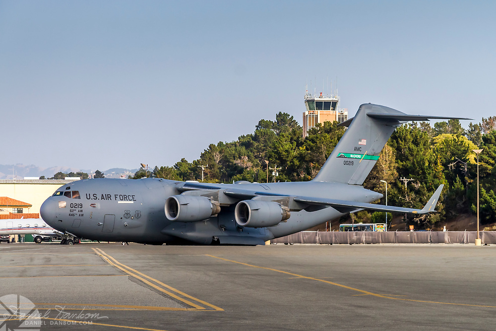 McChord USAF C-17 at MRY on the ramp.