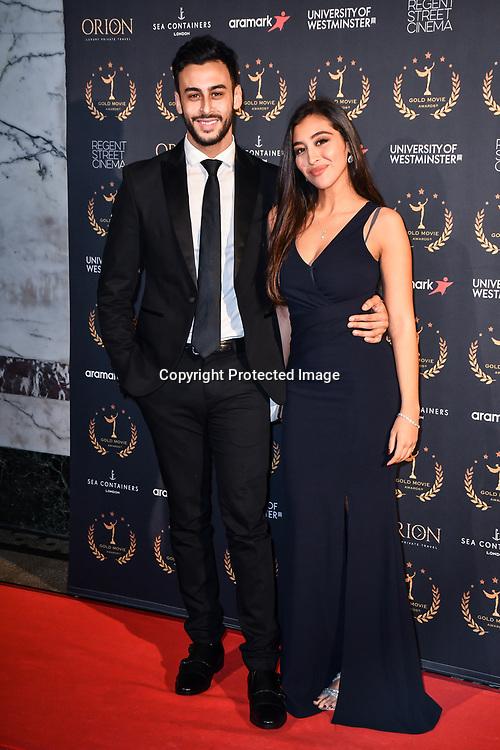 Fady Elsayed,Rania Elewa arrivers at Gold Movie Awards at Regents Street Theatre, on 9th January 2020, London, UK.