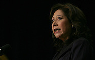 Secretary Hilda Solis speaks at the White House Summit for jobs and economic growth in Washington DC on December 3, 2009.  Photograph by Dennis Brack