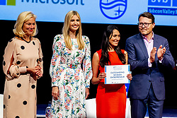 Ivanka Trump poses for a photo as she arrives at the World Forum for Global Entrepreneurship Summit (GES), in the Hague, Netherlands, 05 June 2019. The daughter and advisor of US President Donald Trump participates in the closing event and talks about the rights of women worldwide.<br /> Photo by Robin Utrecht/ABACAPRESS.COM