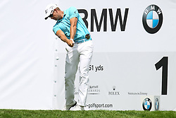 26.06.2015, Golfclub München Eichenried, Muenchen, GER, BMW International Golf Open, Tag 2, im Bild Henrik Stenson (SWE) am Abschlag, Tee // during day two of the BMW International Golf Open at the Golfclub München Eichenried in Muenchen, Germany on 2015/06/26. EXPA Pictures © 2015, PhotoCredit: EXPA/ Eibner-Pressefoto/ Kolbert<br /> <br /> *****ATTENTION - OUT of GER*****