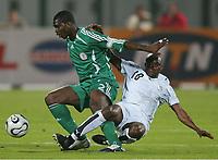 v.l. Joseph Micheal Yobo, Abubakari Yakubu Ghana<br /> Africa Cup 2006 Nigeria - Ghana<br /> Foto: Digitalsport