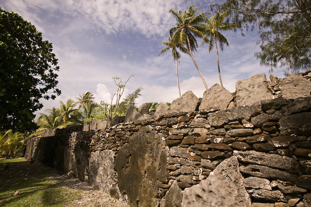 Huahine, French Polynesia, Marae Anini