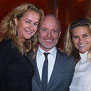 NLD/Amsterdam/20130907 - Modeshow najaar Mart Visser 2013, Paulien Huzinga, Mart Visser en Judith Wiersma