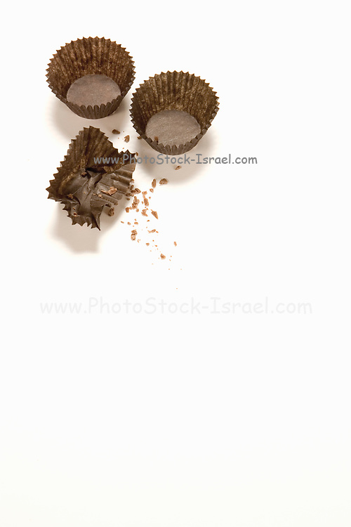 baking concept baking muffin cups on white background