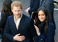 Prince Harry and Meghan Markle arrive at the Nottingham Contemporary in Nottingham, to attend a Terrence Higgins Trust World AIDS Day charity fair on their first official engagement together.